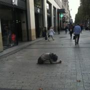 Roma begging