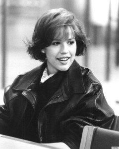 "I coveted the leather jacket Molly Ringwald wore in ""The Breakfast Club."" (Getty image)"
