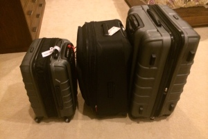 The world's heaviest suitcases. I see extra fees in our future.